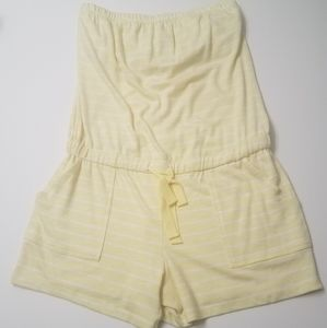New York and Company Strapless Terry Romper